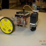 An arduino powered rover, built around an acrylic chassis